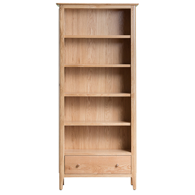 Bergen Oak Large Bookcase
