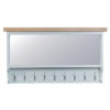 Large Hall Bench Top-mirror-hanging-coat-storage-grey-painted-lime washed oak top-wood-occasional-furniture-Steptoes-Paphos-Cypr