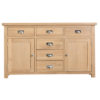 Windsor Limed 2 Door 6 Drawer Sideboard