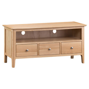 Bergen Oak Large TV Unit
