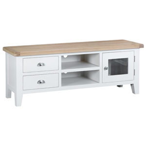 Suffolk White Large TV Unit