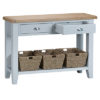 Large console table-stand-drawers-storage-grey-painted-lime washed oak top-wood-wooden-occasional-furniture-Steptoes-Paphos-Cypru