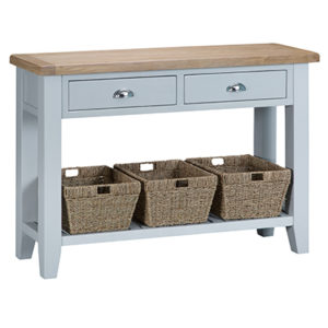 Suffolk Grey Large Console Table
