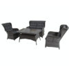 Leo 4 Piece Rattan Garden Set - Leo - Garden - Set - Armchair - 2 Seater - Sofa - Table - Glass - Cushion - Summer - Season - Furniture - Paphos - Cyprus - Steptoes - AFS
