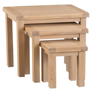 Windsor Limed Nest of 3 Tables