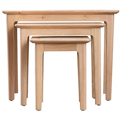 Bergen Oak Nest of 3 Tables
