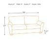 Olsen Slate 3 Seat Sofa