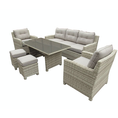 Saturn 6 Piece Garden Set - Saturn - Garden - Set - Armchair - 3 Seater - Sofa- Stool - Table - Glass - Cushion - Summer - Season - Furniture - Paphos - Cyprus - Steptoes - AFS (2)
