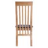 Bergen Oak Slat Back Chair PU Seat