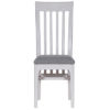 Bergen Beige Slat Back Chair Fabric Seat
