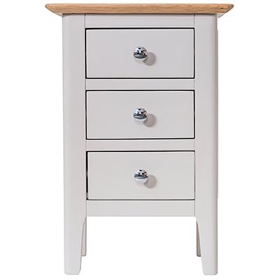 Bergen Beige Small Bedside Cabinet