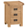 Small Bedside Cabinet-storage-chest-drawers-bronze handles-oak-Bedroom-wooden-wood-furniture-Steptoes-paphos-cyprus