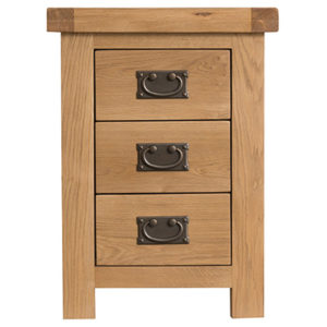 Windsor Country 3 Drawer Bedside Cabinet