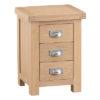 Windsor Limed 3 Drawer Bedside Cabinet