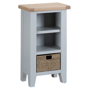 Suffolk Grey Small Narrow Bookcase