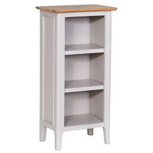Bergen Beige Small Narrow Bookcase