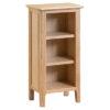 Bergen Oak Small Narrow Bookcase