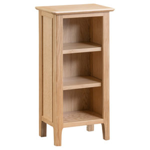 Bergen Oak Small Narrow Bookcase