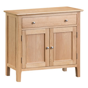 Bergen Oak Small 1 Drawer 2 Door Sideboard