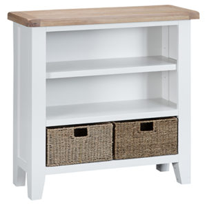 Suffolk White Small Wide Bookcase