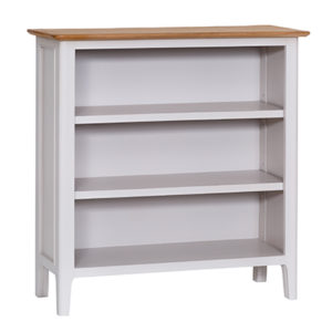 Bergen Beige Small Wide Bookcase
