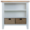 Small wide Bookcase-stand-book-storage-grey-painted-lime washed oak top-wood-wooden-occasional-furniture-Steptoes-Paphos-Cyprus (2)