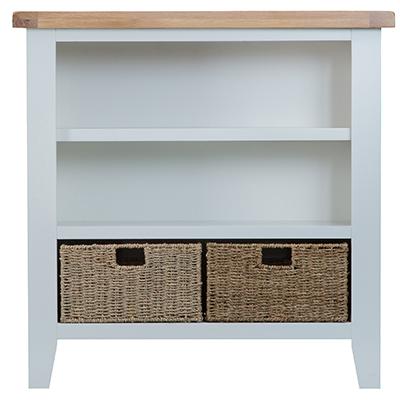 Suffolk Grey Small Wide Bookcase