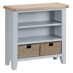 Suffolk Grey Small Wide Bookcase
