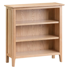 Bergen Oak Small Wide Bookcase