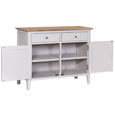 Bergen Beige Standard 2 Drawer 2 Door Sideboard