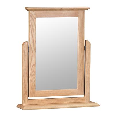 Bergen Oak Trinket Mirror