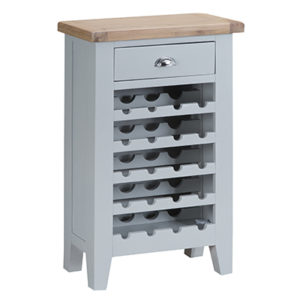 Suffolk Grey Wine Cabinet