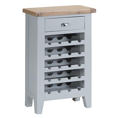 Suffolk Grey Wine Cabinet