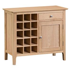 Bergen Oak Wine Cabinet