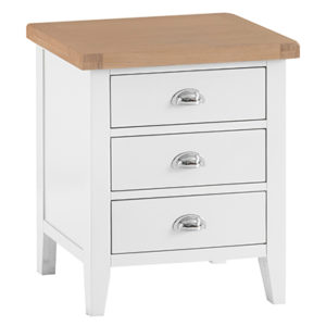 Suffolk White Extra Large Bedside Cabinet