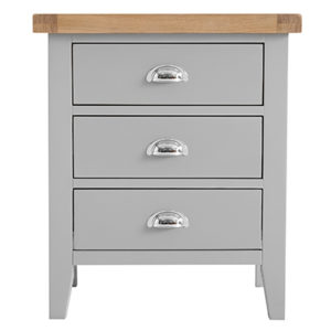 Suffolk Grey Extra Large Bedside Cabinet