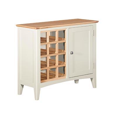 Eva Cream Wine Cabinet - Wood - Oak - Pine - Mango Wood - Painted - Natural Wood - Solid Wood - Lounge - Bedroom - Dining - Occasional - Furniture - Home - Living - Comfort - Interior Design - Modern