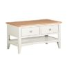 Eva Cream 2 Drawer Coffee Table- Wood - Oak - Pine - Mango Wood - Painted - Natural Wood - Solid Wood - Lounge - Bedroom - Dining - Occasional - Furniture - Home - Living - Comfort - Interior Design - Modern