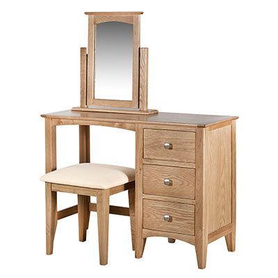 Eva Natural Dressing Table- Wood - Oak - Pine - Mango Wood - Painted - Natural Wood - Solid Wood - Lounge - Bedroom - Dining - Occasional - Furniture - Home - Living - Comfort - Interior Design - Modern