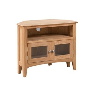 Eva Natural Corner TV Unit - Wood - Oak - Pine - Mango Wood - Painted - Natural Wood - Solid Wood - Lounge - Bedroom - Dining - Occasional - Furniture - Home - Living - Comfort - Interior Design - Modern