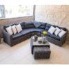 Havana Corner – Corner Garden Set – Garden – Lounge – Rattan – Cushions – Black – Grey – Sofa – Corner Sofa – Comfort – Relax – Steptoes – Furniture – Paphos – Cyprus