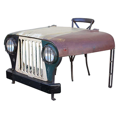 Indian Jeep Writing Table - Wood - Oak - Pine - Mango Wood - Painted - Natural Wood - Solid Wood - Lounge - Bedroom - Dining - Occasional - Furniture - Home - Living - Comfort - Interior Design - Modern