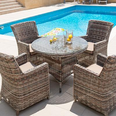 Savoy Garden Rattan Dining Chairs