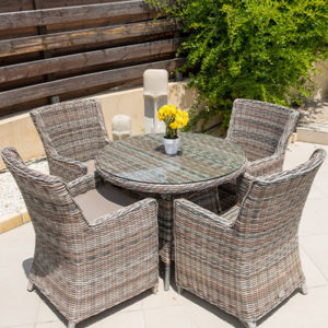 Savoy Small Round Garden Dining Set