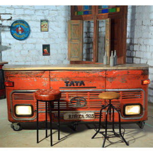 TATA BAR - COUNTER - BAR - INDIAN - RETRO - LIGHTS - VINTAGE - CUSTOM - HAND MADE - HAND CRAFTED - WOOD - METAL - AFS - STEPTOES - PAPHOS - CYPRUS