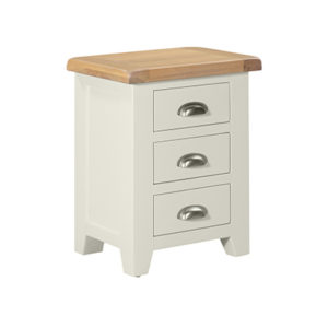 Hartford 3 Drawer Bedside Cabinet - Wood - Oak - Pine - Mango Wood - Painted - Natural Wood - Solid Wood - Lounge - Bedroom - Dining - Occasional - Furniture - Home - Living - Comfort - Interior Design - Modern