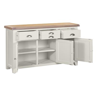 Hartford 3 Door 3 Drawer Sideboard - Wood - Oak - Pine - Mango Wood - Painted - Natural Wood - Solid Wood - Lounge - Bedroom - Dining - Occasional - Furniture - Home - Living - Comfort - Interior Design - Modern
