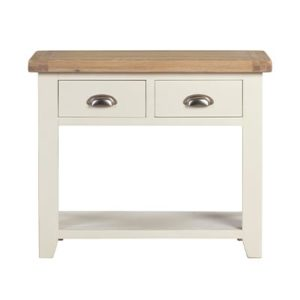 Hartford 2 Drawer Console Table- Wood - Oak - Pine - Mango Wood - Painted - Natural Wood - Solid Wood - Lounge - Bedroom - Dining - Occasional - Furniture - Home - Living - Comfort - Interior Design - Modern