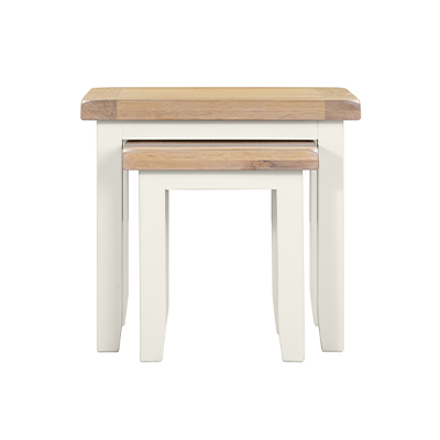 Hartford Nest of 2 Tables - Wood - Oak - Pine - Mango Wood - Painted - Natural Wood - Solid Wood - Lounge - Bedroom - Dining - Occasional - Furniture - Home - Living - Comfort - Interior Design - Modern