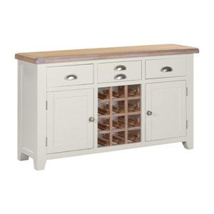 Hartford White Large Wine Cabinet - Wood - Oak - Pine - Mango Wood - Painted - Natural Wood - Solid Wood - Lounge - Bedroom - Dining - Occasional - Furniture - Home - Living - Comfort - Interior Design - Modern